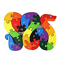 Uyuke Baby Kids Animal Plane Shape Wooden Toys Children Alphabet Number Building Blocks Puzzle Early Educational Toys