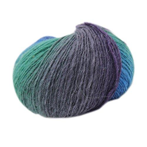 Generic Wool Knitting Thread Fingering Crochet Yarn Cord Dyed