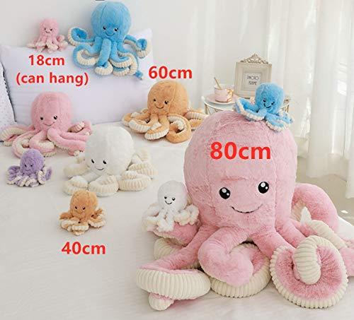 QZXCD Plüschtier Kawaii Süß Gefüllt Seefisch Ozean Tier Plüsch Weiche Octopus Plüschtier Puppe Baby Kind Geburtstagsgeschenk Party Puppe 60cm (Tiere Süße Ozean)