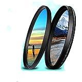 TOP-MAX® 52mm Filter Kit: UV Filter +CPL Filter für 52mm Kamera Linse Panasonic Lumix DMC