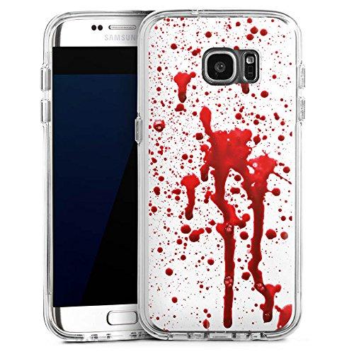 DeinDesign Samsung Galaxy S7 Edge Bumper Hülle Bumper Case Schutzhülle Blut Halloween Gothic