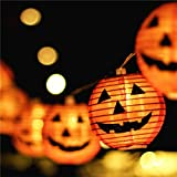 Halloween Lights,Makion Halloween Decorations Fairy Lights 1.5M 10 Led Pumpkin Lanterns Battery Powered String Lights