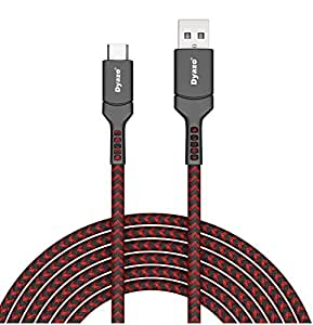 Dyazo 5 ft Type C 2.8 AMP Fast Charging Data Cable Unbreakable Nylon Braided USB Charge & Data Sync Compatible with Samsung Galaxy S10e S10 S9 S8 S10+, Note 10, LG G7 G6 G5 V40 V35 V30 V20, Pixel