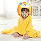 Baby Boys/Girls Bath Bathrobe Cute Lion Hooded Fleece Infant Toddler Bathing Wrap Towel Blanket For Kid 0-6 Years Old