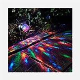 TMSE Solarlicht Lampe LED-Strahler buntes Licht rotierende Solar-Outdoor-Licht Garten Rasen Lampe nach Hause