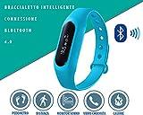 Uhr Armband Intelligente Schrittzähler Aktivitäts-Trackers Schrittzähler Schlaf Monitor und körperliche Aktivität, Wellness-Armband | Fitness-Erkennung körperliche Aktivität Corsa, Smart Notifications | Garantie Italienische | Bedienungsanleitung auf Italienisch