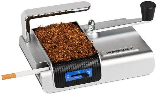 Powerfiller® Zigarettenstopfmaschine Silber Tabak-Stopfmaschine Zigaretten-Stopfmaschine Zigaretten-Maschine Zigaretten-Fertiger für Zigaretten-Hülsen Filter-Hülsen