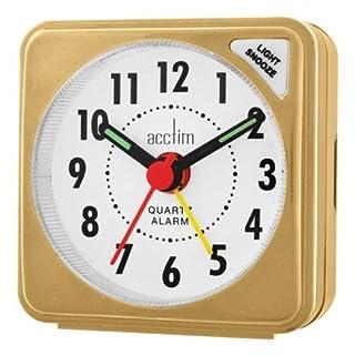 Acctim Ingot Alarm Clock with Snooze & Light Button   Mustard Gold