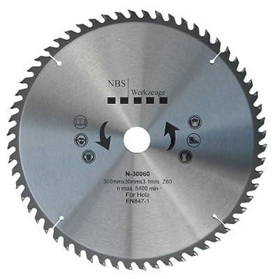 NBS Werkzeuge HM Hartmetall Kreissägeblatt 300 x 30 x 60 Zähne