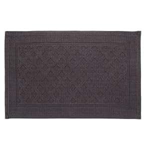 URBANARA tapis de bain Osuna - 100% coton - gris anthracite - 50x150 cm