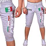 Bermuda-Shorts für den Sommer | leichte Baumwollhose mit Taschen | kurze Jogginghose für Herren bis xxxl | Italy Design | dreiviertel Sporthose BM-1120