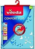 Vileda - Comfort Plus - Housse pour Planche à Repasser, Taille Universelle jusqu'à 130 cm x 40 cm, Design Papillon - Couleur Aléatoire