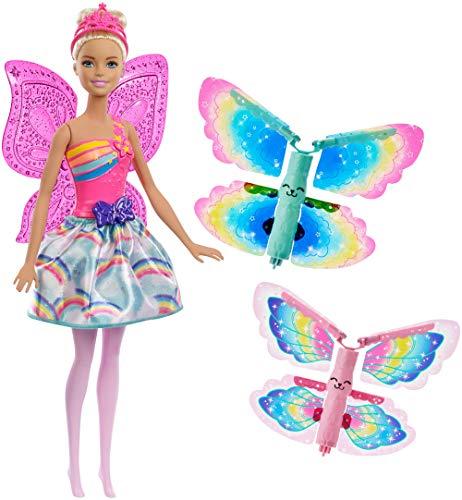 Barbie Dreamtopia, muñeca Hada alas mágicas rubia, juguete +3 años (Mattel FRB08)
