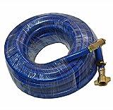 Reifenfüllschlauch Gummi Luftschlauch Druckluft Reifenfüller Hebelstecker LKW 12meter blau