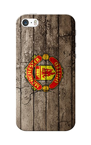 iPhone 5 Case, iPhone 5S Case, Manchester United Logo Wood Background Slim Fit Hard Case Cover/Back Cover for Apple iPhone 5/5s  available at amazon for Rs.119