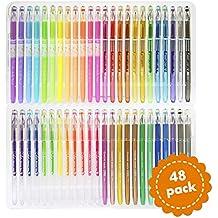 Set di 48 penne in gel - Studiate per gli