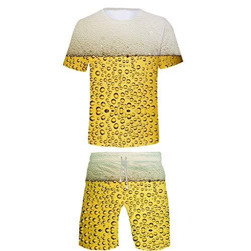 Stitch Einfache Kostüm - Setsail Herren Beer Festival Trend Print Freizeitsets Mode Anzug Komfortanzug Einfach Joker Sets Für Festival, Business, Hochzeit, Party
