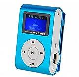 Clip Mini-Metall-MP3-Player mit LCD-Screen + Micro / TF Slot MP3-Speicher, erweiterbar UP 16GB (keine SD-Karte) (blau)