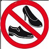 Interdit - chaussures pour femmes - 10 cm de diamètre autocollant Autocollants