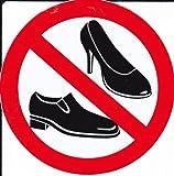 VERBOTEN - Damenschuhe Schuhe - Aufkleber Sticker Folie Durchmesser 100 mm rund