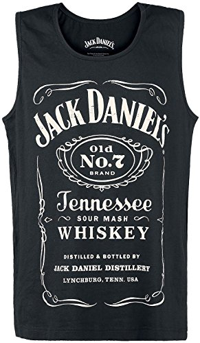 Jack Daniel Old No.7 Brand Logo-Vestaglia Uomo    nero Medium