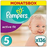 Pampers Active Fit Windeln Monatsbox, Größe 5, 11-23kg x136 Windeln