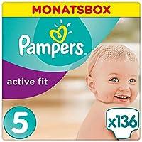 Pampers Active Fit Windeln Monatsbox, Größe 5, 11-23kg x136 Windeln