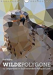 Wilde Polygone (Wandkalender 2017 DIN A4 hoch): 12 Tierportraits in faszinierendem Polygon-Look (Monatskalender, 14 Seiten ) (CALVENDO Tiere)