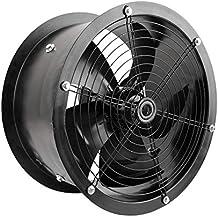 PrimeMatik - Extractor de aire de tubo de 400 mm para ventilación industrial 1360 rpm redondo 470x470x240 mm