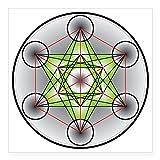CafePress Metatron 's Cube quadratisch Aufkleber 3x 3, weiß, 5x5