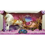 Prinzessin / Prinzessinnen Kutsche mit Beleuchtung und Puppenpferd