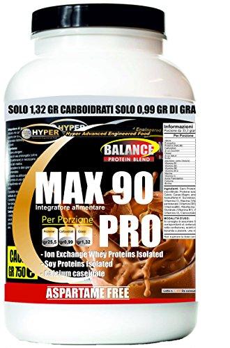 Frullati / shakes proteici dimagranti | sostitutivi del pasto | gusto cacao gr 750 | dieta iperproteica x dimagrire | perdere peso| no aspartame no glutine | con vitamine | max 90 pro