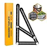 Winzwon Angleizer Template Tool Full Metal Angleizer Vorlage Werkzeug Winkel Lineal Mehrwinkel Mess-Lineal Werkzeug für Heimwerker, Builders, Handwerker - Prämie Aluminiumlegierung Material