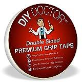 DIY Doctor, nastro biadesivo antiscivolo extraforte per tappeti, lunghezza 20 m, larghezza 21 mm