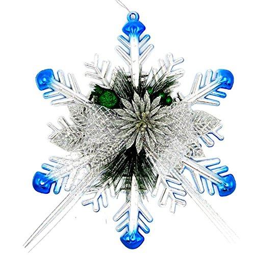 YUYU Decorazioni di Natale regalo pino ornamento ornamenti dei fiocchi di neve , 3