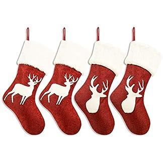 WERNNSAI Medias de Navidad Rojas – Calcetin de Decoraciones de Navidad