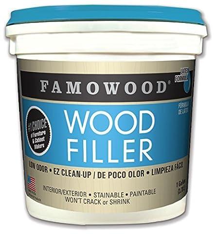 Famowood 40002152 Latex Wood Filler, Golden Oak, One gallon by FamoWood