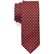 Corbata de microfibra fina con lunares de época tricolor para hombres de Retreez