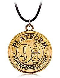 Movic - Collar de Harry Potter «Via 9 3/4 Hogwards Platform» de 3,4 cm