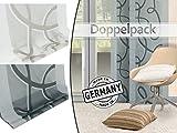 Doppelpack - Schiebevorhang Lola von Home Decoration - Scherli in 2 Farben, halbtransparent - Made in Germany - Maße ca. 245 cm x 60 cm, grau