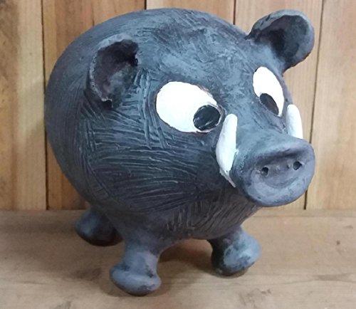 Jabalí hucha de cerámica. 25 x 15 cm.