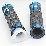 Ailes 22mm de poignée pour Dirt Pit Bike Moto Scooter Mobylette Bleu