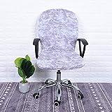 iShine Bürostuhl Bezug Stuhlhussen Abdeckung Stuhlbezug Abnehmbarer Federnden Stuhlbezug für Bürostuhl Drehstuhl Sessel Computer Stuhl Armlehnen Stuhl-1 Stück