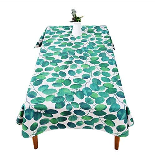 IMFFSE Pflanze Tischdecken Tuch Frische Baumwolle Tischdecke Rechteckigen Couchtisch Tischdecke Runde Tischdecke,140*180Cm