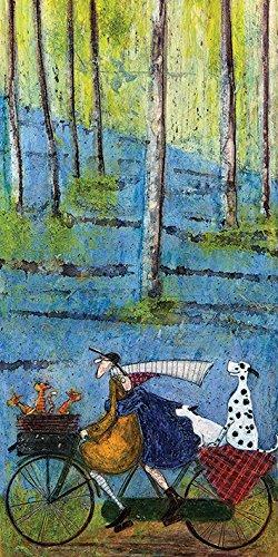 Sam Toft Leinwanddruck, Holz, Mehrfarbig, 50 x 100 cm