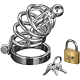 Master Series 6 Ring Stainless Steel Locking Male Chastity Cage