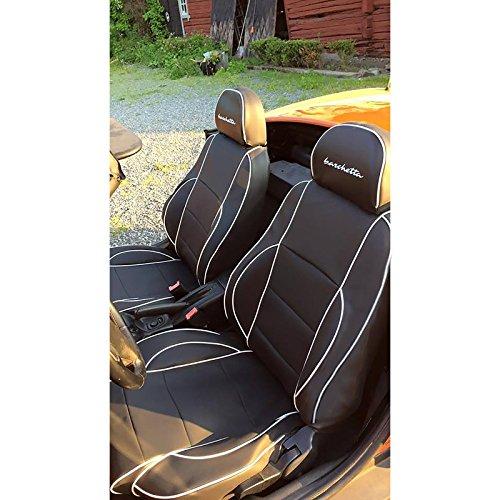 Noir-Rouge Sitzbezüge pour FIAT DUCATO Siège-auto référence Set 1+2