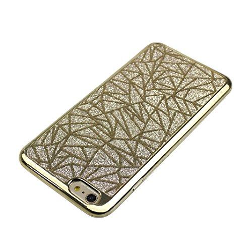 2 PCS Coque iPhone 6 4.7 pouces, iPhone 6S Coque en Silicone Glitter, Moon mood Bling Crystal Case Cover pour Apple iPhone 6S / 6 TPU Silicone Ultra Mince Doux Slim Retour résistant aux rayures Cas de 2 PCS-5