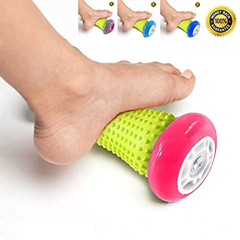 PILAAIDOU Foot & Hand Massage Roller Muscle Roller Stick. Foot Massage Roller for Plantar Fasciitis, Heel & Foot Arch Pain Relief. Trigger Point Massage - Ergonomic Reflexology Massager - Wrists and Forearms Exercise Roller, Recovery Tool for Plantar Fasciitis, Heel Pain etc.