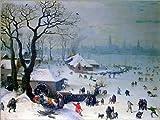 Poster 80 x 60 cm: Winterlandschaft bei Antwerpen mit